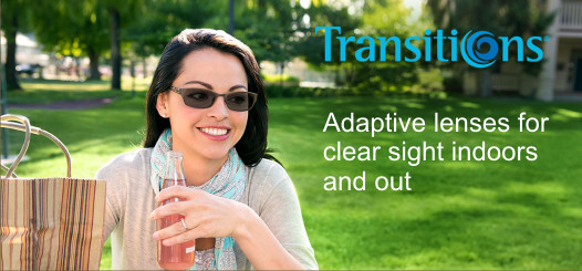 Transitions adaptive lenses for eyeglasses in Palmdale at Antelope Mall Vision Center Optometry